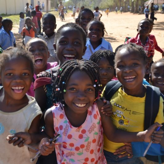 Mozambique -school children of Maciene